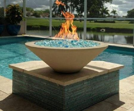 Fire Bowl for Swimming Pool